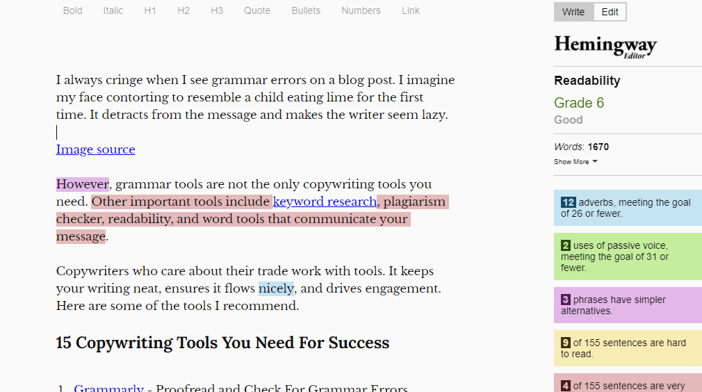 Hemingway editor is a great tool for writing simplied text