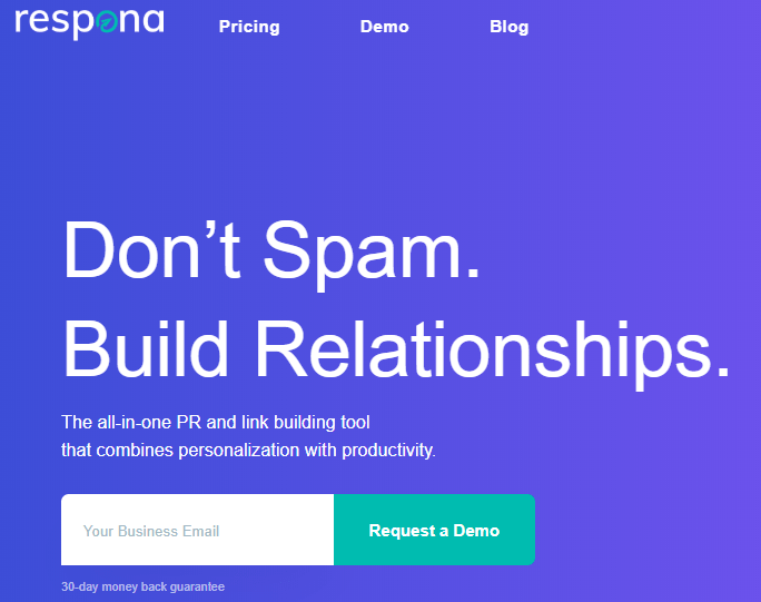 Respona is a great tool for link building and outreach campaigns