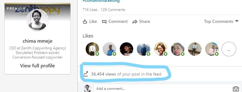 A screenshot of the Linkedin Post