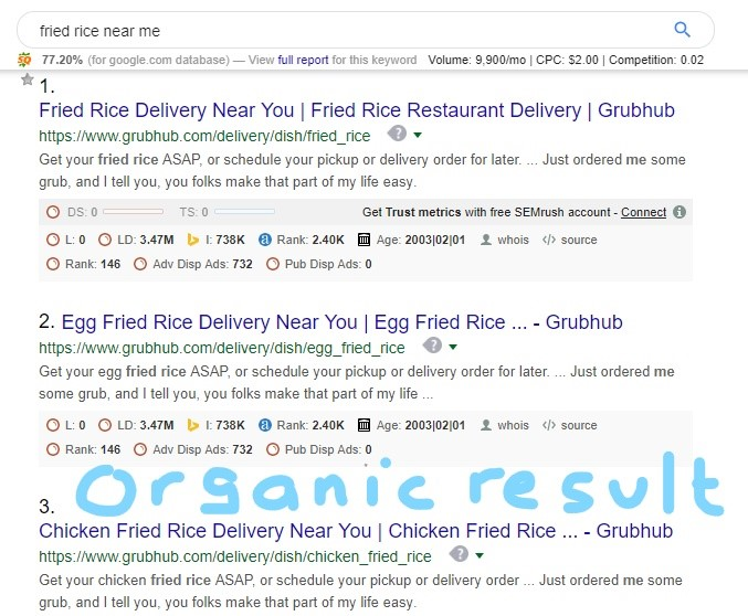 Organic results are also vital to local seo