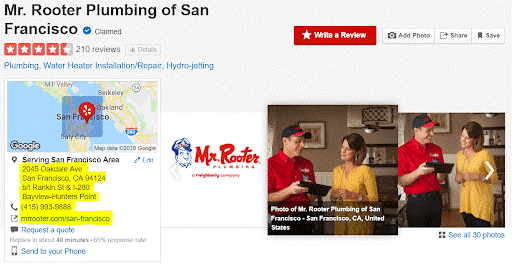 Improve local seo by listing your business on YELP and other relevant directories