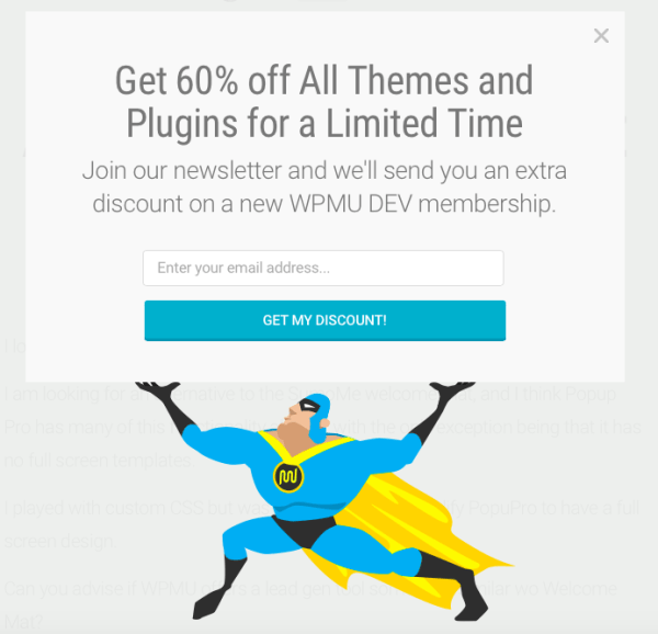 WPMU DEV entices with 60% discount