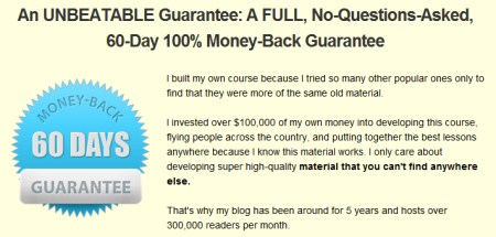 Build trust on your landing page by offering a money back guarantee