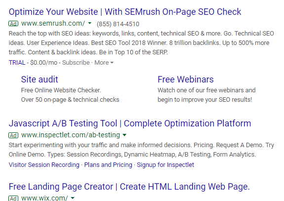 ensure your landing page headline matches the intent behind the search