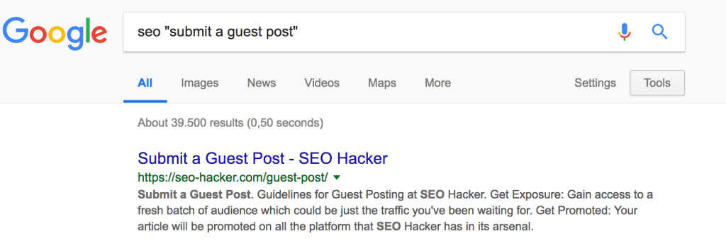 Guest Posting is a popular technique for white hat link building