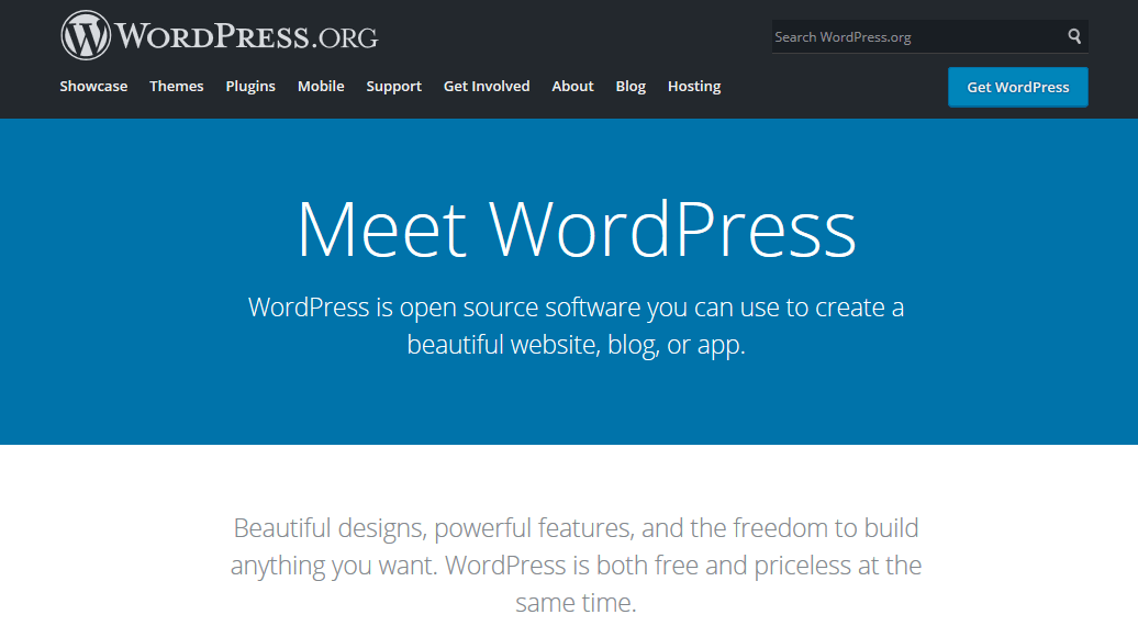 WordPress.org leverages simplicity to reach a broad audience