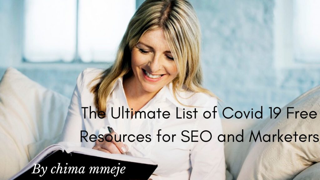 COVID 19 free resources for seo and marketers