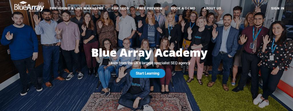 blue array seo certification