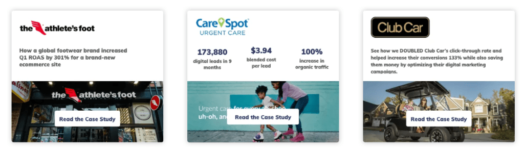 Use case studies to show how you deliver results