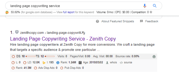 service page wont rank without keyword research