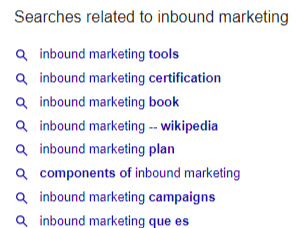 Searches related to on Google SERP offers keyword data